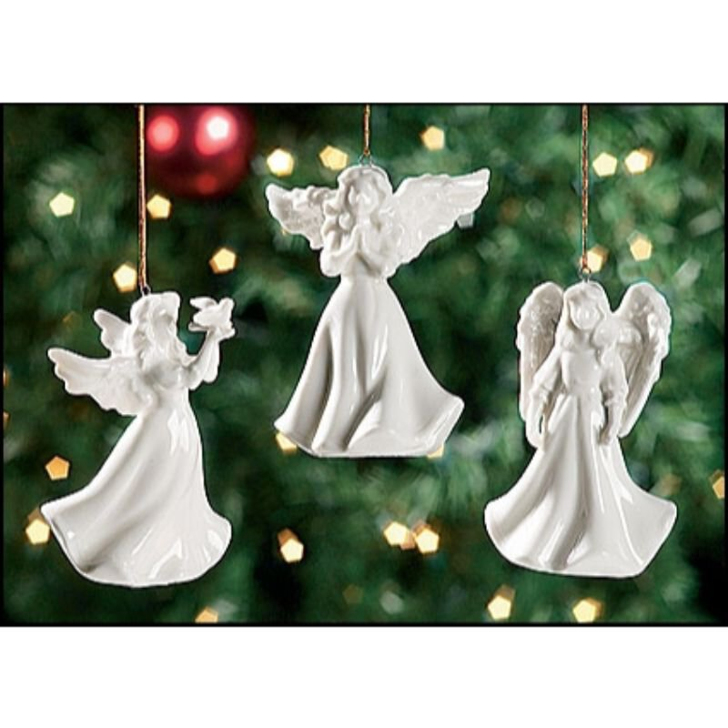 Angel with Dove Light Cover Ornament - 12/PK