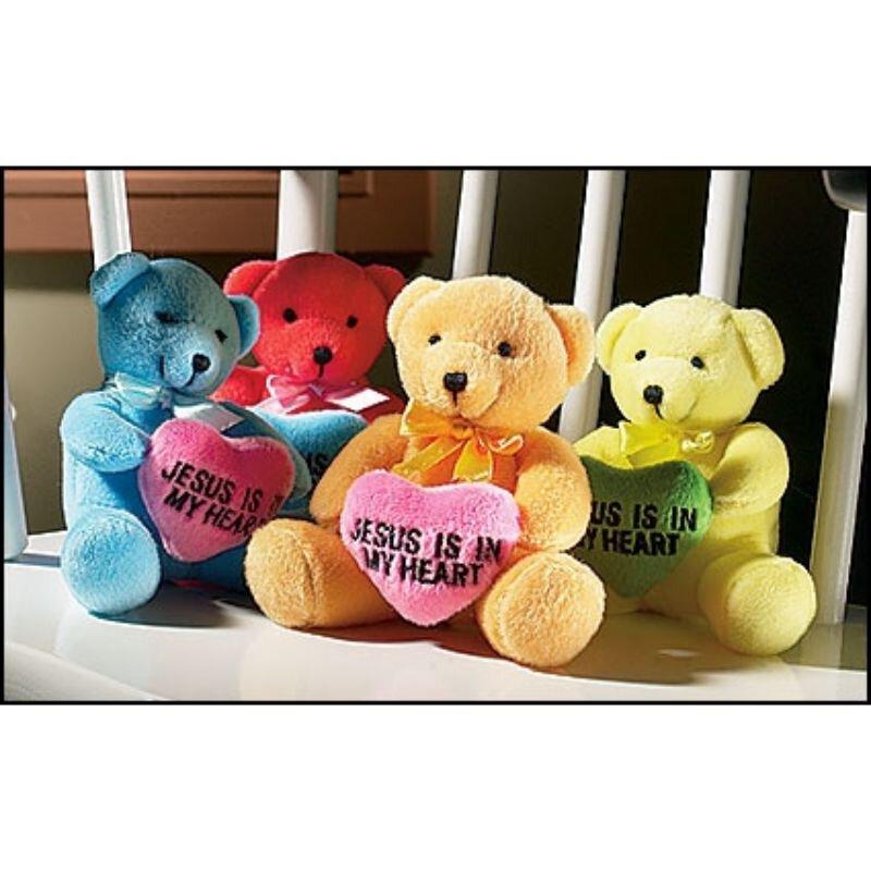 Jesus is in my Heart Bear Assortment - 12/pk