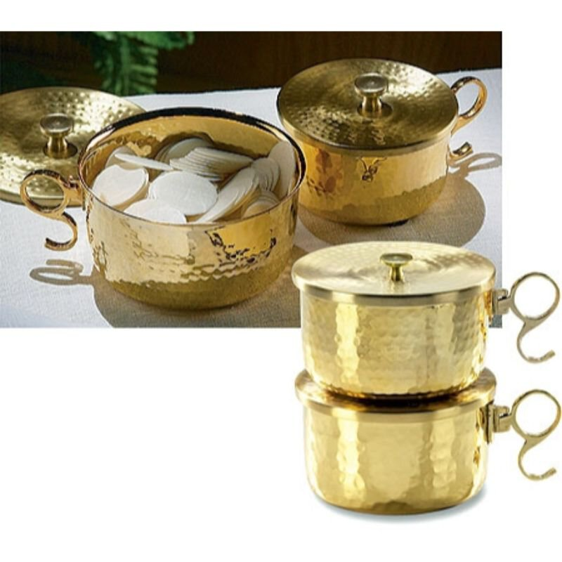 600 Host Brass Stacking Ciborium with Lid