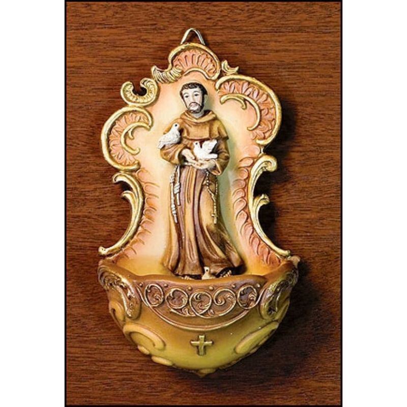 St. Francis Holy Water Font - 4/pk