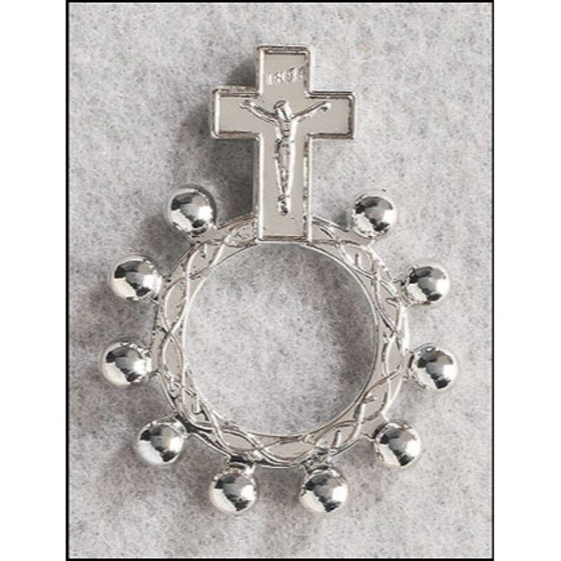 Crucifix Rosary Ring - 50/pk