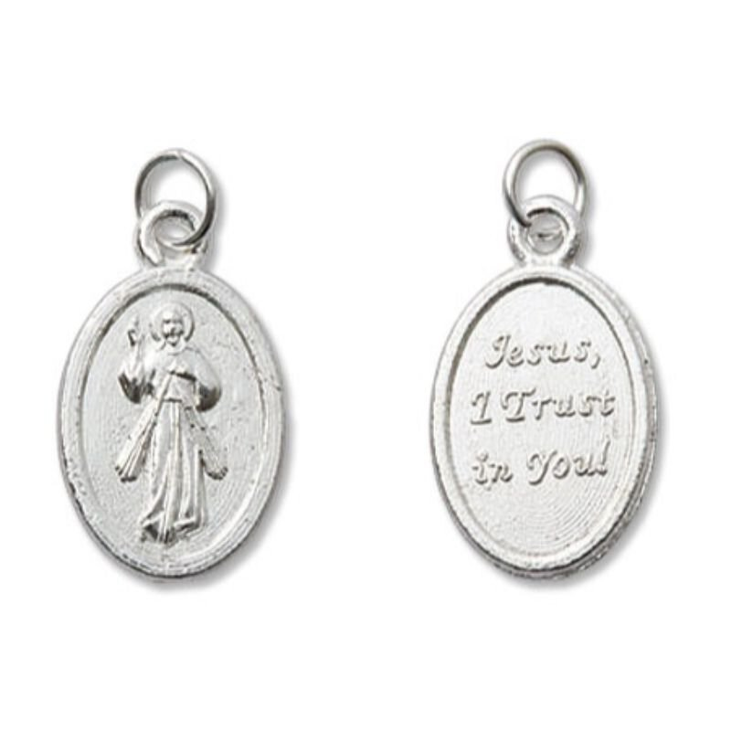 Divine Mercy Mini Devotional Medal - 100/pk