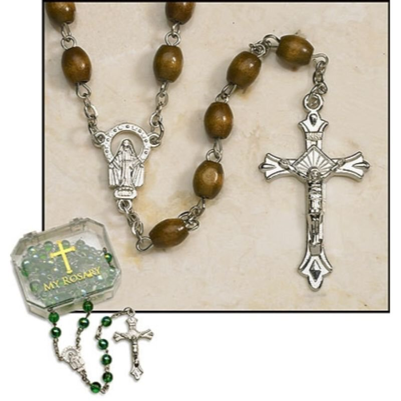 Brown Oval Rosary