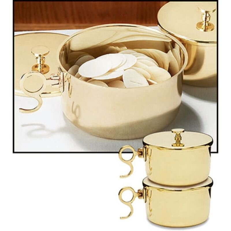 600 Host Brass Stacking Ciboria with Lid