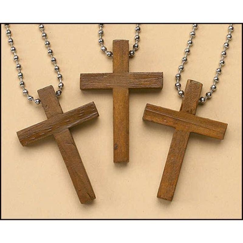 Wooden Cross Keychain - 24/pk