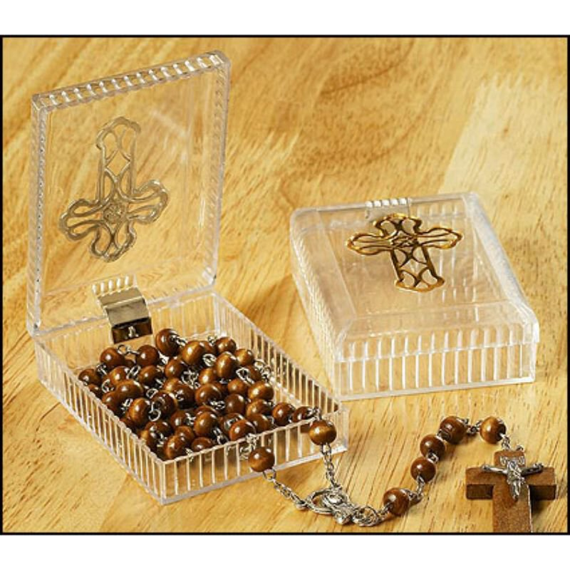 Cross Rosary Case - 24/pk