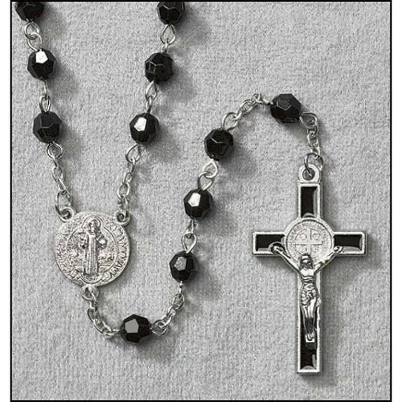 St Benedict Faceted Rosary - 12/PK