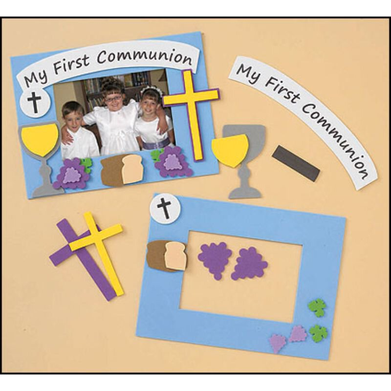 First Communion Frame Foam Craft Kit  - 12/pk
