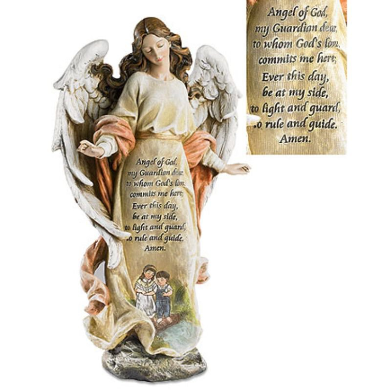 "12"" Guardian Angel with Children Figurine"