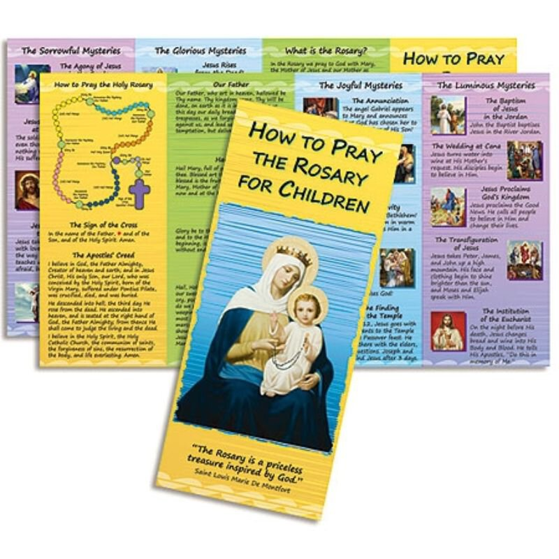 How to Pray the Rosary for Children - 100/pk