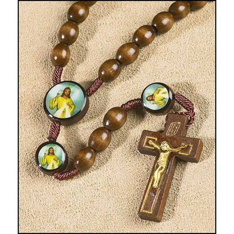 Divine Mercy Devotional Cord Rosary - 12/pk