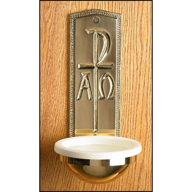 Chi Rho Holy Water Font