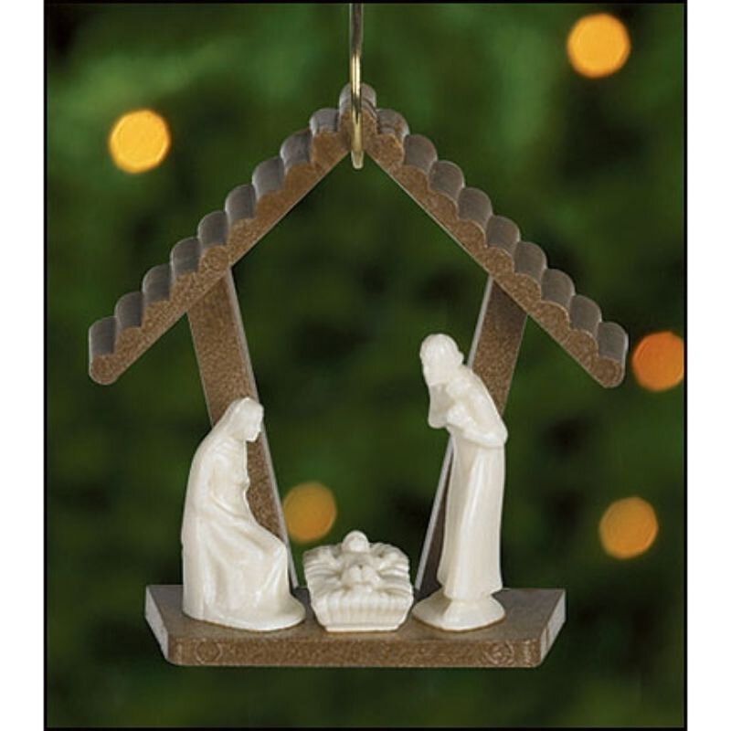 Nativity Stable Ornament