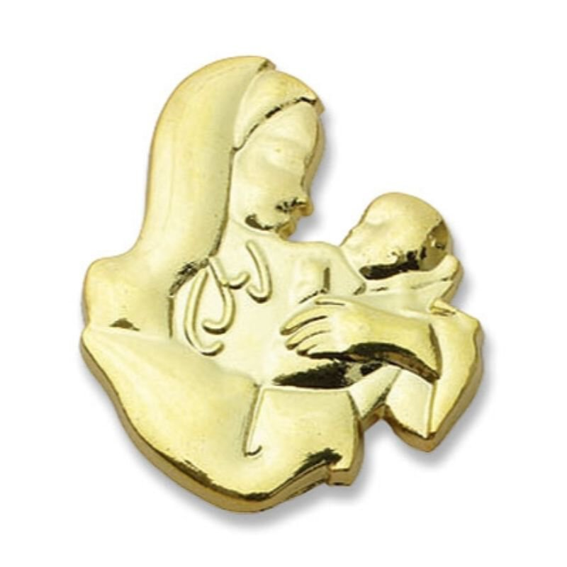 Madonna and Child Lapel Pin - 25/pk