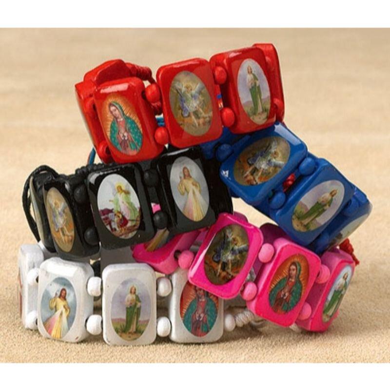 Devotional Saints Bracelet Assortment - 20/pk