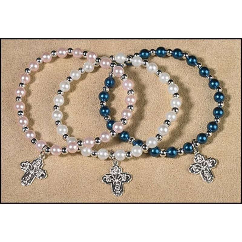 Four Way Imitation Pearl Bracelet Assortment (3 Asst) - 24/pk