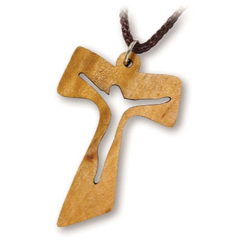 Tau Crucifix Cut-Out Pendant - 24/pk