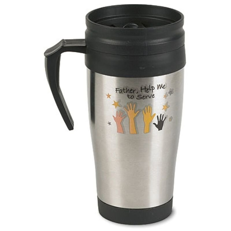 Father, Help Me to Serve Stainless Steel Coffee Tumbler - 4/pk