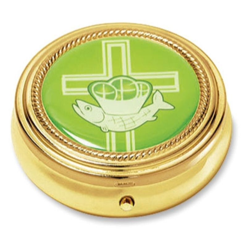 Cross with Loaves and Fish Pyx - 3/pk