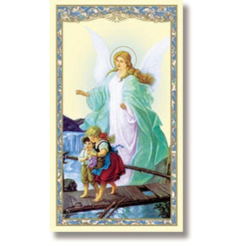 Guardian Angel Holy Card 100Pk
