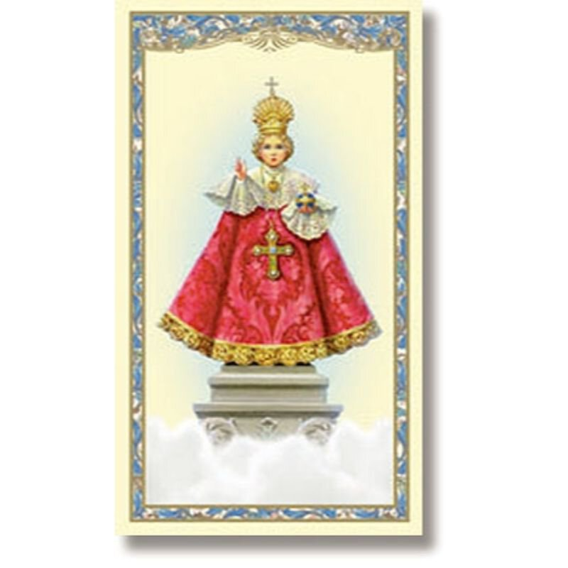 Infant of Prague Holy Card - 100/pk