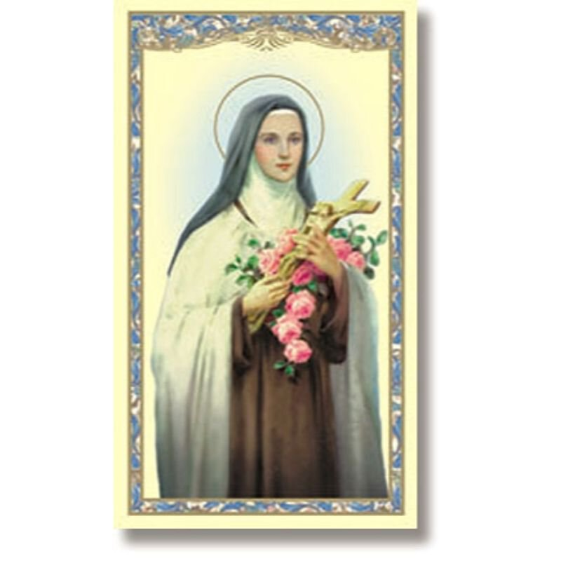 St. Therese Holy Card - 100/pk