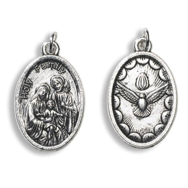 Holy Family, Holy Spirit Devotional Saint Medal - 50/pk