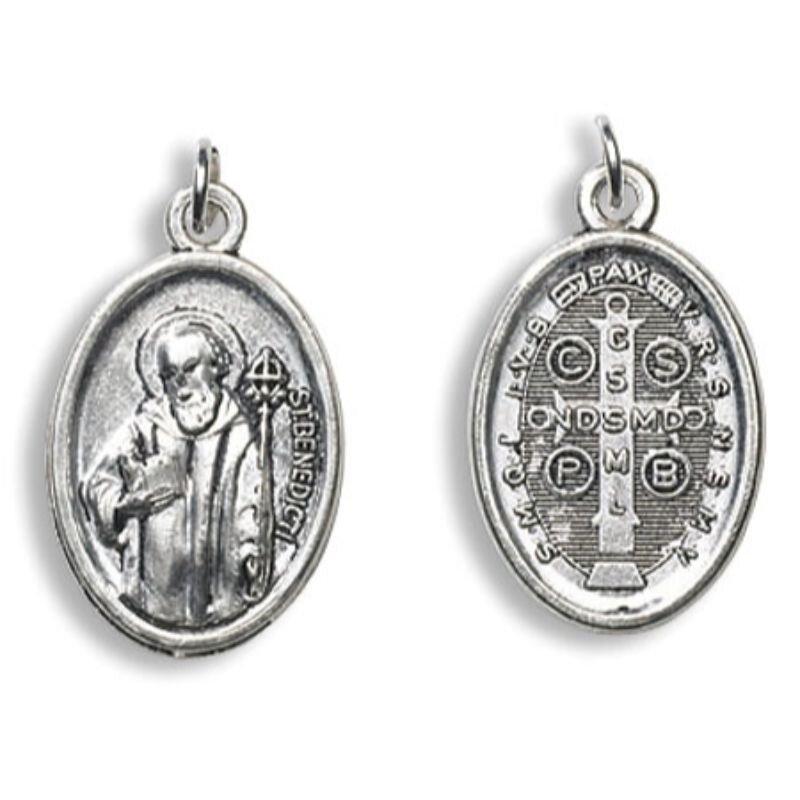 St. Benedict Devotional Saint Medal - 50/pk