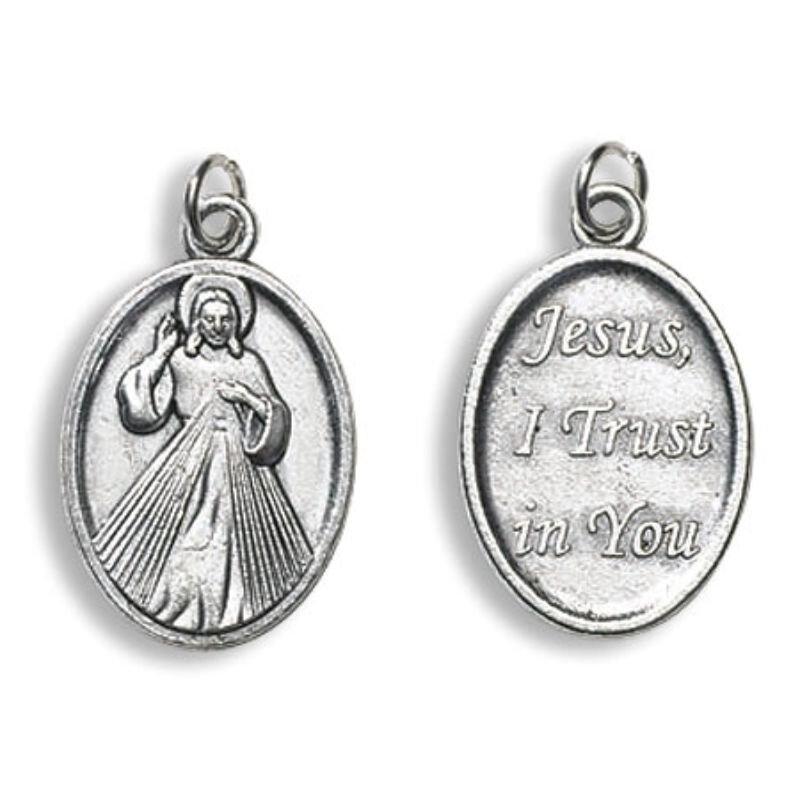 Divine Mercy, Jesus Trust in You Devotional Saint Medal - 50/pk