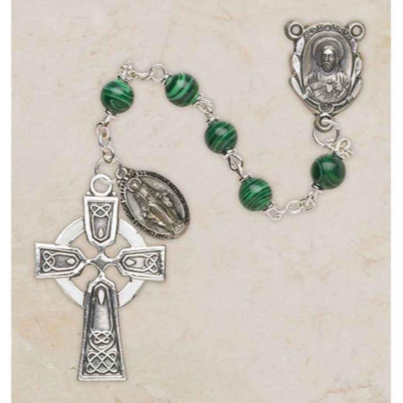 Malachite Irish Rosary