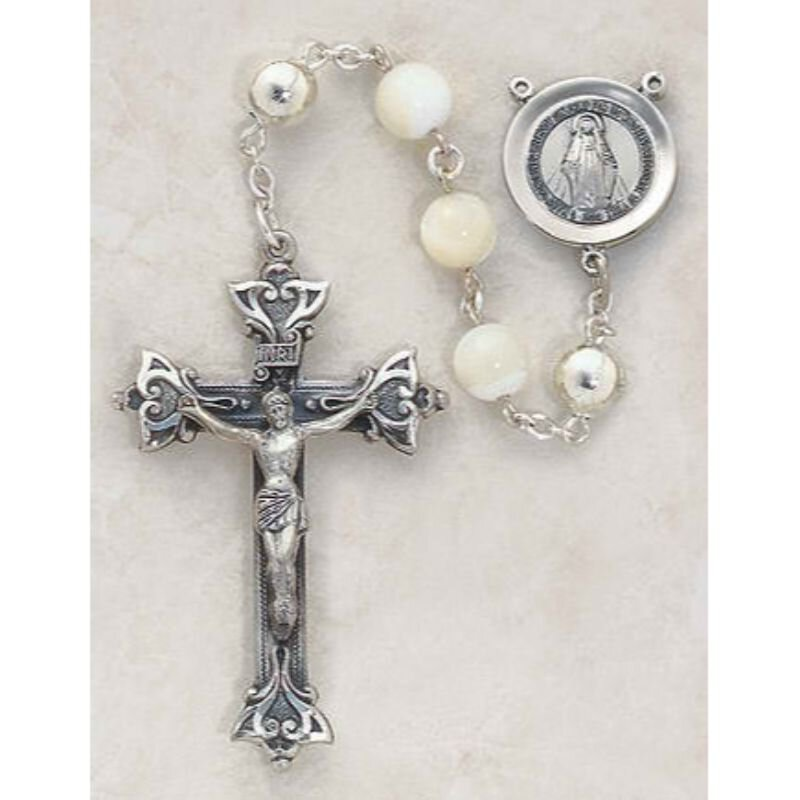 Italian Handcrafted Pearl Rosary