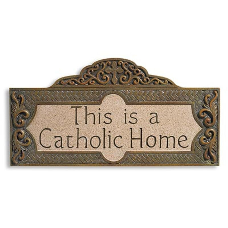 This is a Catholic Home Wall Plaque