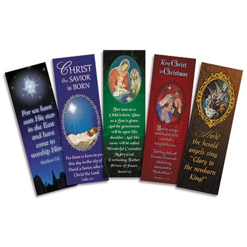 Christmas Bookmark Assortment (5 Asst) - 100/pk