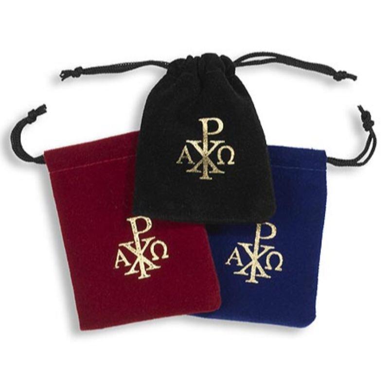 Rosary Drawstring Bag Assortment (3 Asst) - 24/pk