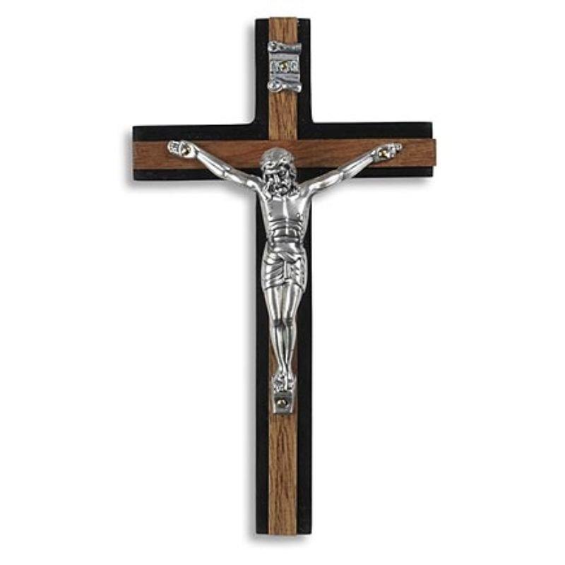 Two-Tone Wall Crucifix - 2/pk