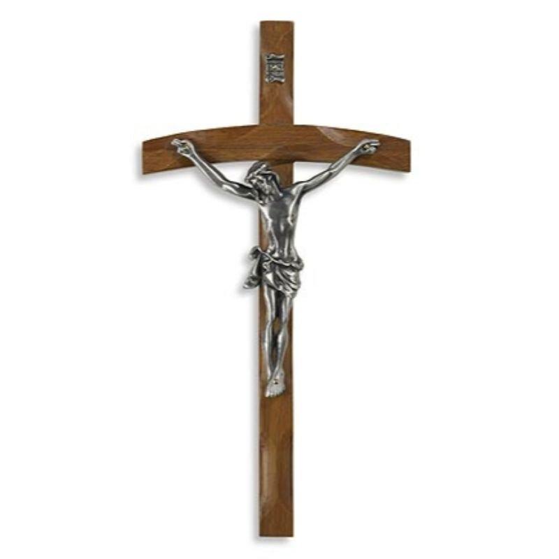 Papal Wood Wall Crucifix - 2/pk