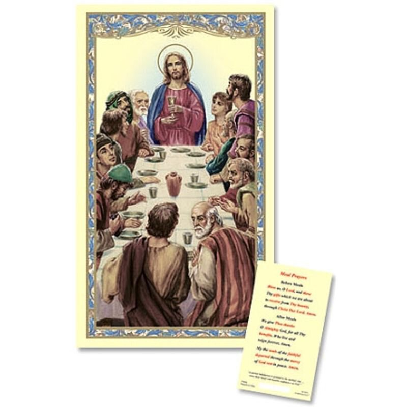 The Last Supper Laminated Holy Card - 25/pk