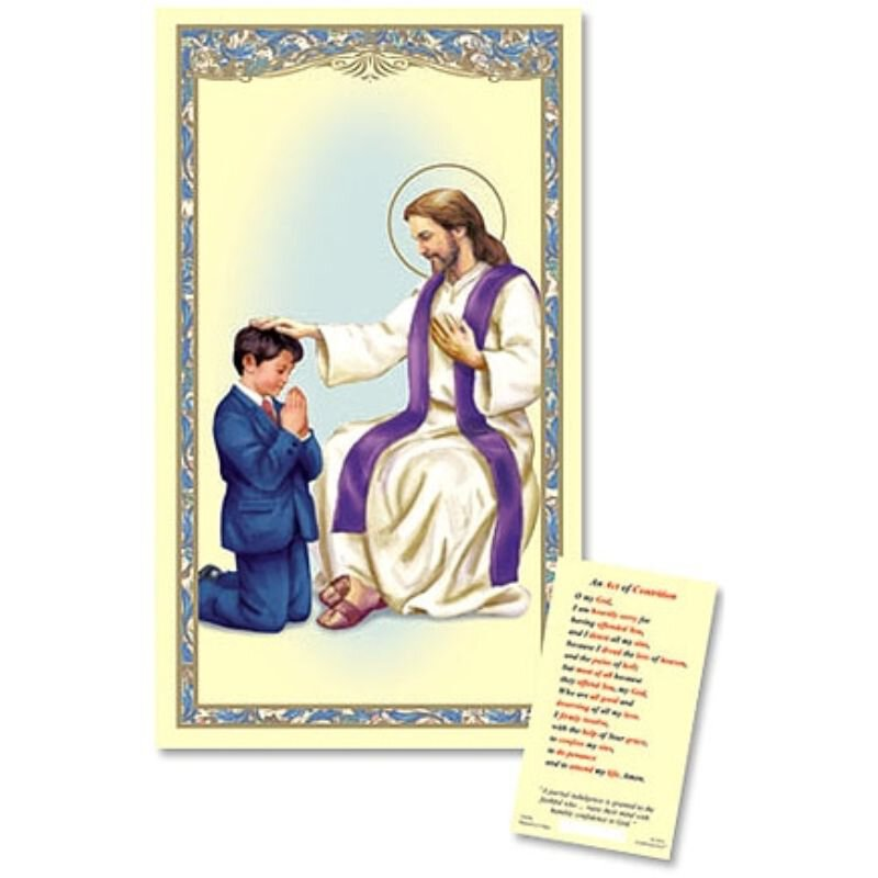 Reconciliation - Boy Laminated Holy Card - 25/PK