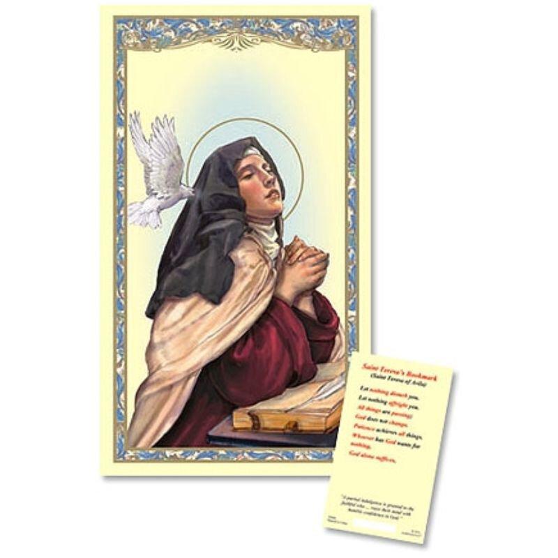 St. Teresa of Avila Laminated Holy Card - 25/PK