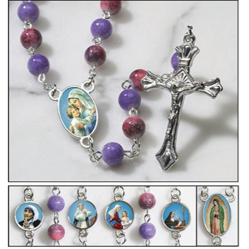 Saints for Girls Rosary - 4/pk