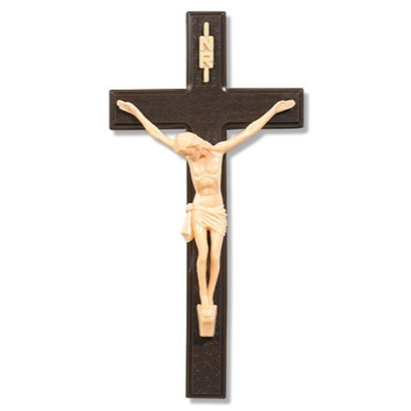 Woodtone Wall Crucifix - 12/pk