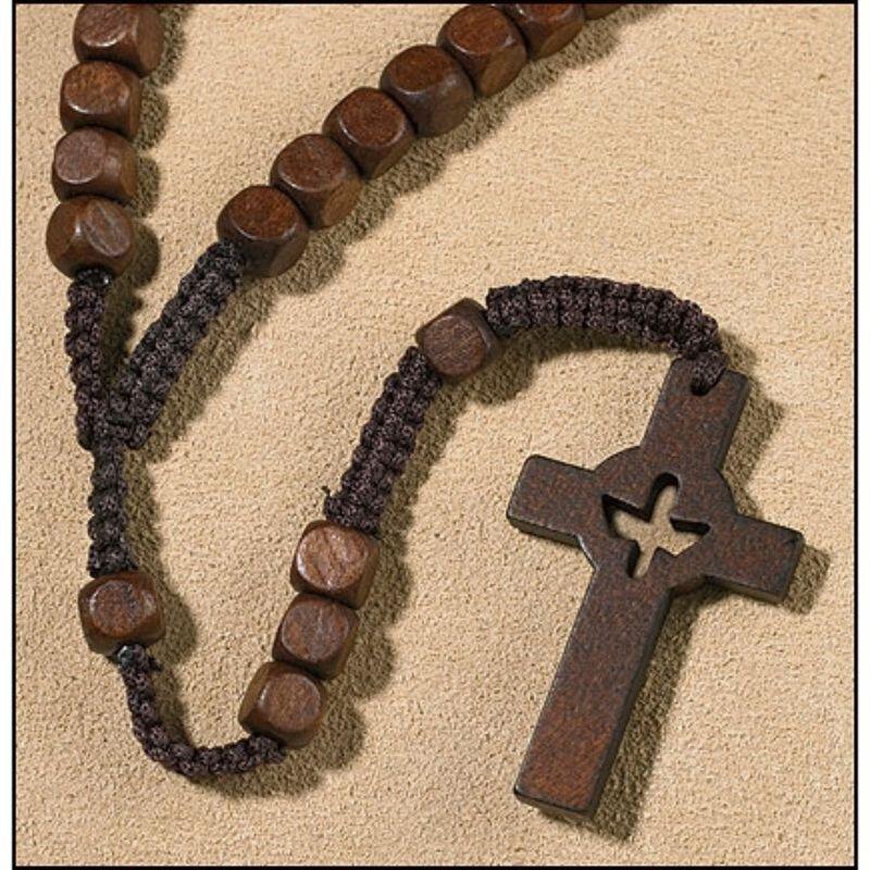 Holy Spirit Cross Cord Rosary - 12/pk