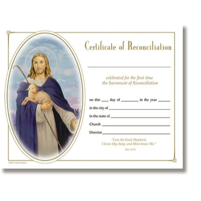 Reconciliation Certificate - 100 Pack