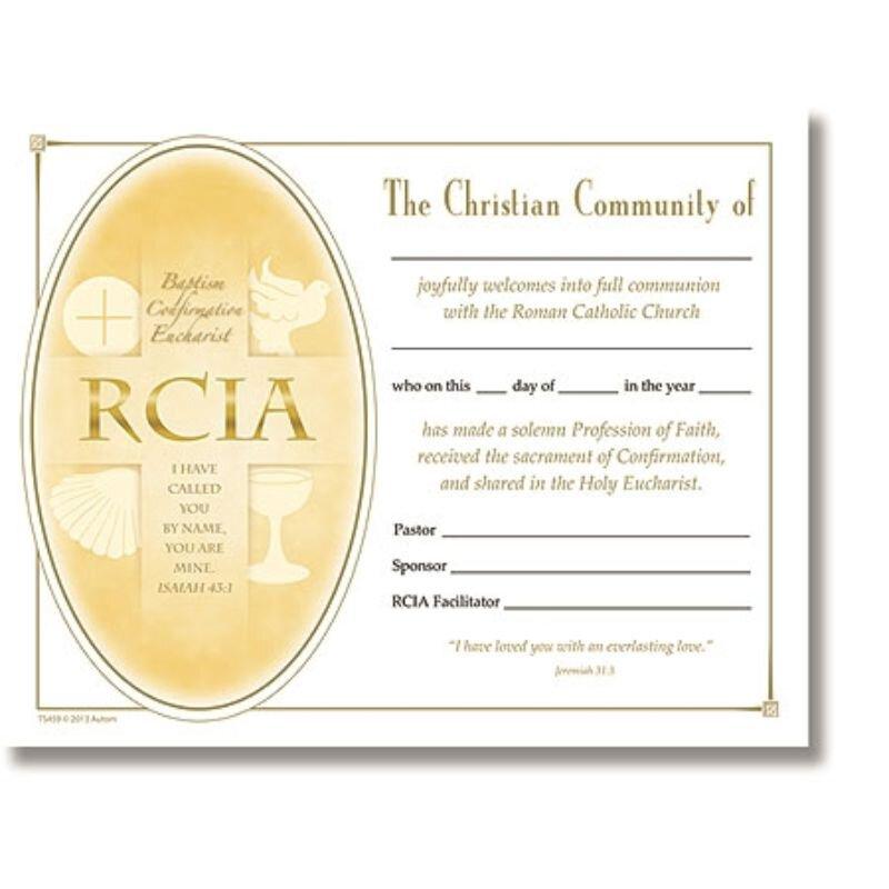 RCIA Certificate