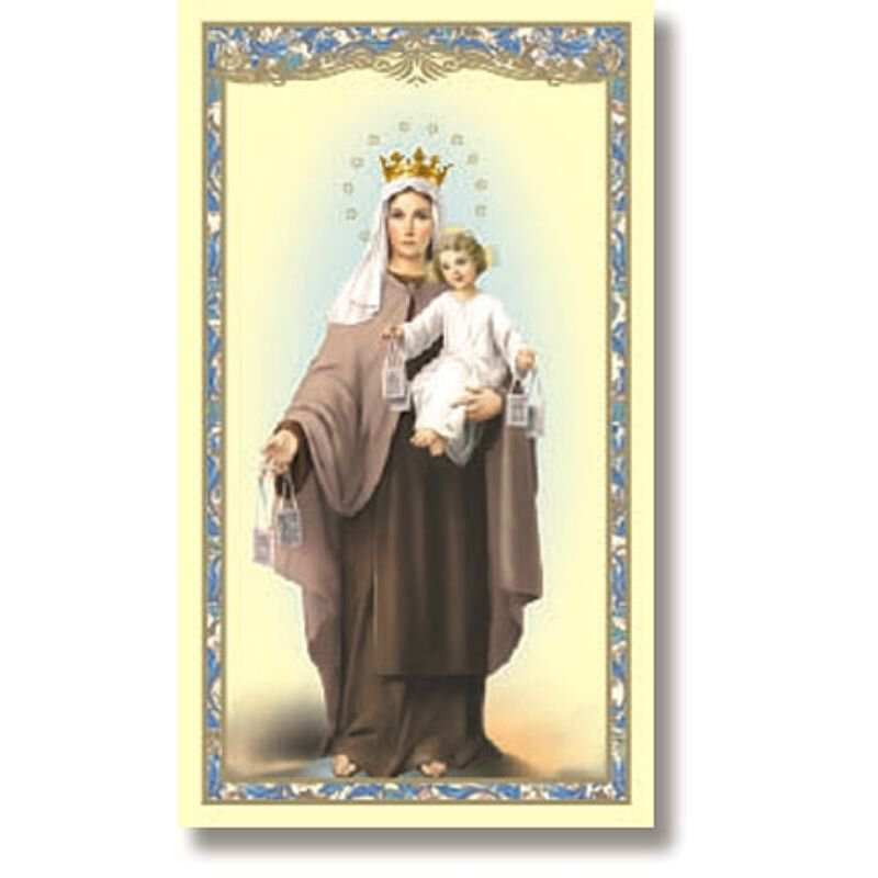 Our Lady of Mt. Carmel Holy Card - 100/pk
