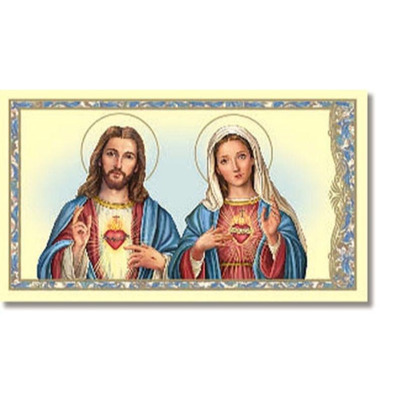 Sacred Hearts Holy Card - 100/pk