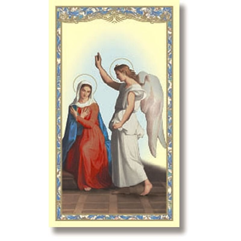 The Annunciation Holy Card - 100/pk