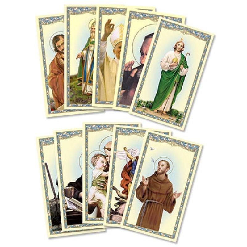Men Saints Holy Card Assortment - 100/pk