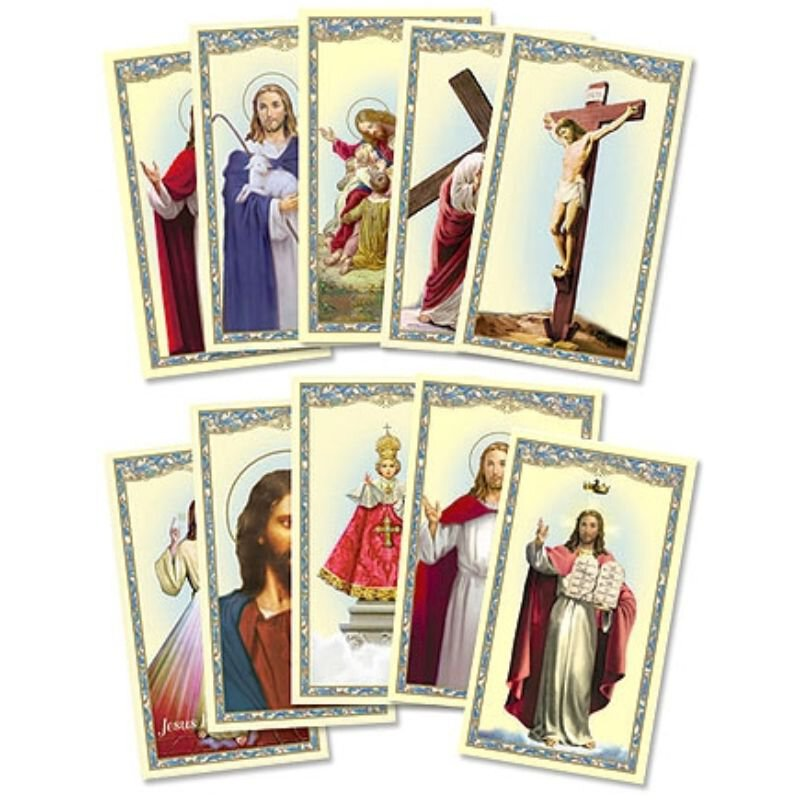 Christ Holy Card Assortment - 100/pk
