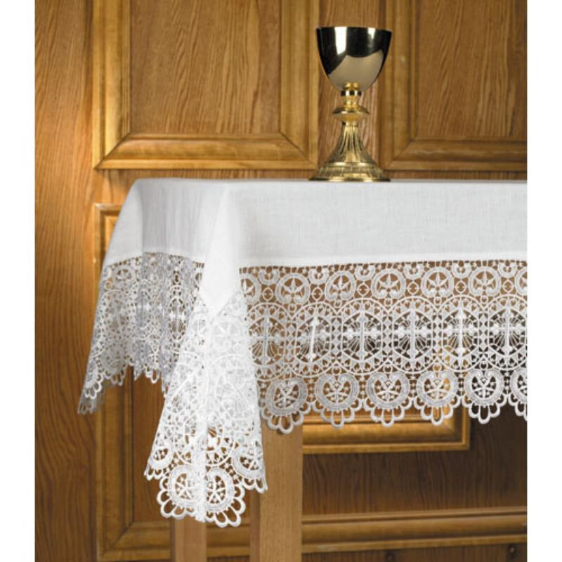 Made to order Budded Cross Lace Altar Cloth